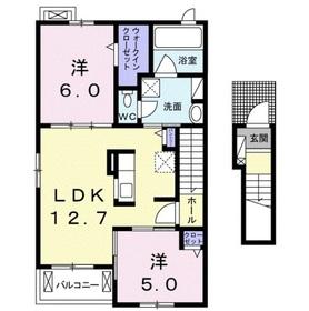 ラ・フレーズ B2階Fの間取り画像
