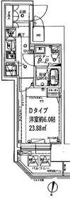 SHOKEN Residence 横浜阪東橋7階Fの間取り画像