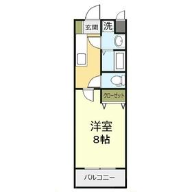 カロン・セギュール2階Fの間取り画像