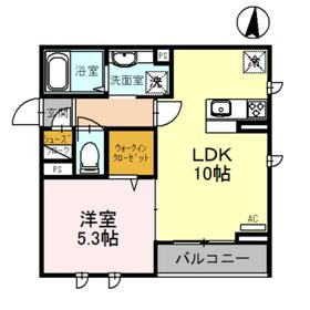 桜DKハイム 1階Fの間取り画像