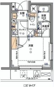 フェルクルール新横浜4階Fの間取り画像