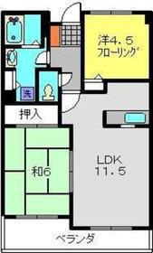 綱島駅 徒歩11分3階Fの間取り画像