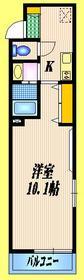 桃井ガーデン3階Fの間取り画像