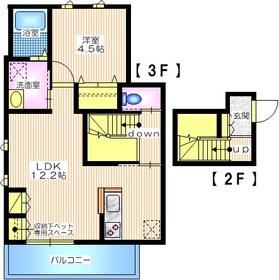 クラーロ サンジュ23階Fの間取り画像