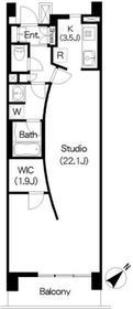 アパートメンツ三軒茶屋 アイビーテラス6階Fの間取り画像