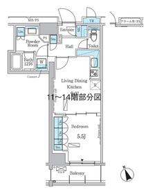 パークアクシス浅草レジデンス9階Fの間取り画像
