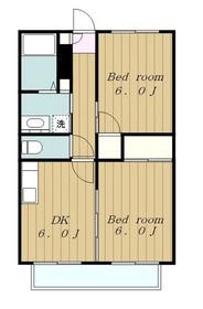 サンホワイトM207号棟2階Fの間取り画像