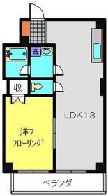 幸栄ビル3階Fの間取り画像