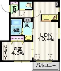 (仮称)東中延1丁目メゾン3階Fの間取り画像