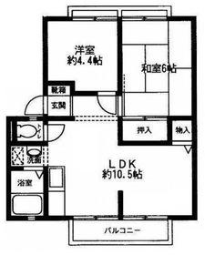 ツインハウス山王台2階Fの間取り画像