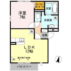 ディアマンテ3階Fの間取り画像