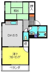 メゾンフルール2階Fの間取り画像