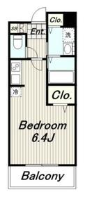 ネオディアコート2階Fの間取り画像