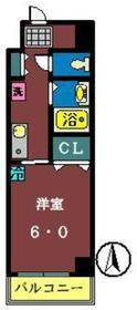 柴田ビル3階Fの間取り画像