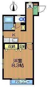 代沢プラザ1階Fの間取り画像