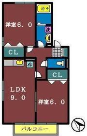 メゾンベール(鷺沼台)1階Fの間取り画像