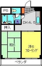 メゾンいわさ2階Fの間取り画像