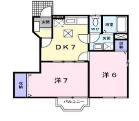 ハイムサンチェリー Ⅱ1階Fの間取り画像