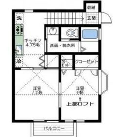 ハピネスSUNADA2階Fの間取り画像