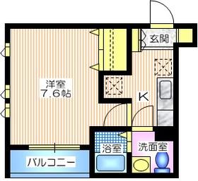 La chambre M3階Fの間取り画像