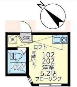 ユナイト井土ヶ谷トニー・ペレス1階Fの間取り画像