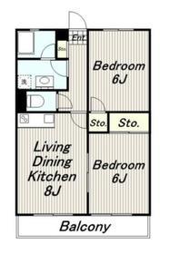 パールマンション3階Fの間取り画像