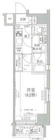 ルフレプレミアム神楽坂5階Fの間取り画像
