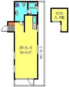 安田屋ビル4階Fの間取り画像