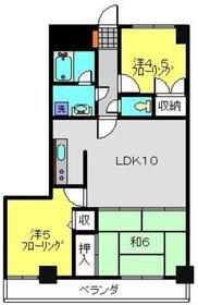 ソワレ・ド・ハマミエステートビル2階Fの間取り画像