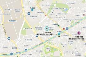 六本木駅 徒歩4分案内図