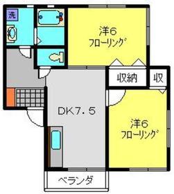 コーポマリル3階Fの間取り画像