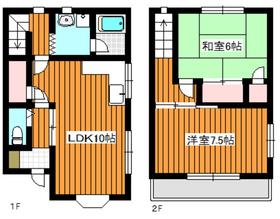 朝霞駅 徒歩26分1-2階Fの間取り画像
