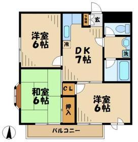 ヤマト永山ハウス3階Fの間取り画像