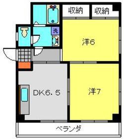メゾンアリアス2階Fの間取り画像