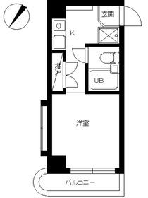スカイコート神奈川新町8階Fの間取り画像