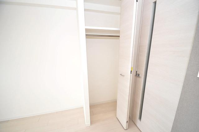 サムティ大阪GRAND EAST 各所に収納があるので、お部屋がすっきり片付きますね。