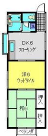 中村ハイツ2階Fの間取り画像