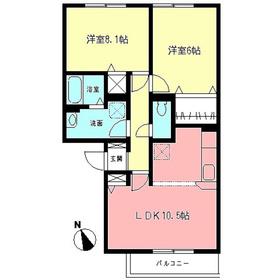ドエルKII1階Fの間取り画像