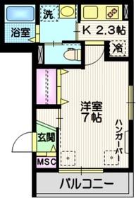 ドエル OKANO II2階Fの間取り画像
