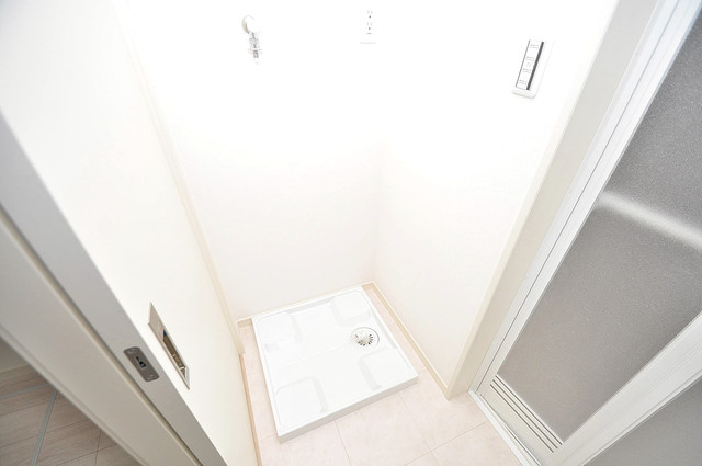 メゾン・ソレイユ長栄寺 嬉しい室内洗濯機置場。これで洗濯機も長持ちしますね。