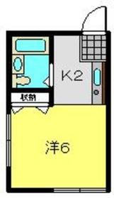 星川駅 徒歩4分1階Fの間取り画像