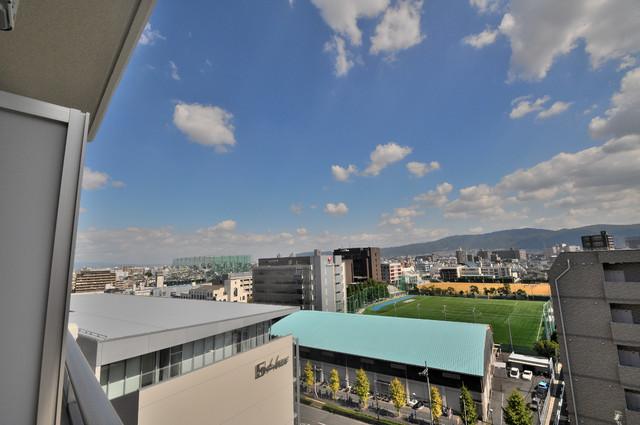 M'プラザ小阪駅前 この見晴らしが日当たりのイイお部屋を作ってます。
