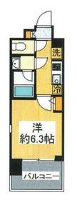 プロスタイルウェルス横浜天王町7階Fの間取り画像
