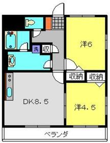 エルミタージュ横浜ベイ4階Fの間取り画像