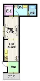 松陰神社の家1階Fの間取り画像