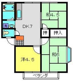 コズミックシティ南台第二D1階Fの間取り画像