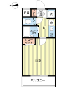 スカイコート練馬桜台5階Fの間取り画像