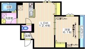 シャンブル・レーヴ大岡山3階Fの間取り画像
