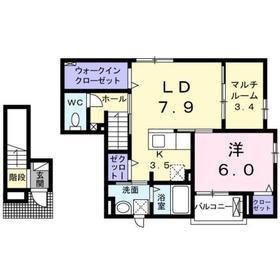 カデンツァⅡ2階Fの間取り画像