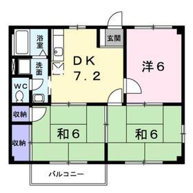 ニューシティ杉田NO22階Fの間取り画像